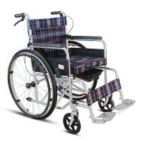 折叠轻便老人轮椅带坐便手动手摇轮椅车家用加厚老年简易帆布轮椅