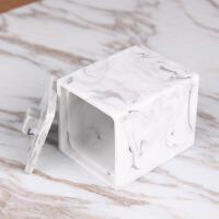 现代客厅棉签筒牙签筒浴盐罐创意树脂牙签盒饰品收纳盒带盖化妆棉