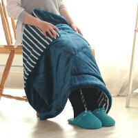 珊瑚绒盖腿毯双层加厚加绒小毛毯法兰绒冬季办公午睡保暖盖毯