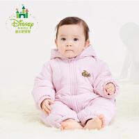 迪士尼Disney婴儿连体衣秋冬新款保暖加厚夹棉外出服男女宝宝爬服154L669
