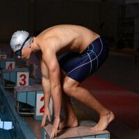 李宁泳裤男士平角裤五分裤速干专业泳衣游泳装备温泉大码游泳裤