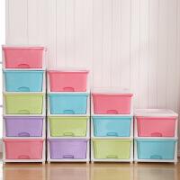 新品秒杀可自由叠加单层塑料抽屉式内衣收纳盒衣物收纳箱衣柜整理箱储物箱