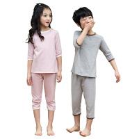 儿童睡衣夏装男女童家居服套装纯棉薄款中大童空调服宝宝短袖夏季