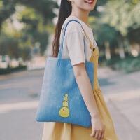时尚PU小清新复古女包韩版新款百搭文艺休闲单肩托特包手提包