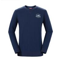 探路者卫衣 秋冬户外男舒适棉感长袖T恤TAJG91827