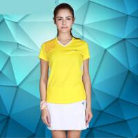 FLEX/佛雷斯 羽毛球服时尚V领 女士款QW9061B