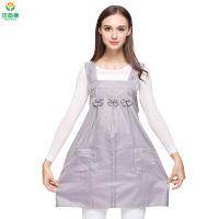 孕妇装防辐射服大码一件穿到生银纤维马甲连衣裙四季通用7220
