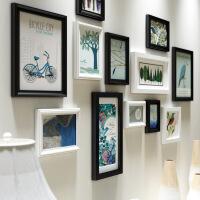 餐厅玄关挂墙组合创意装饰画客厅书房黑白挂画有框简约现代墙画 136*76