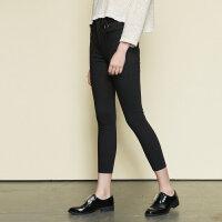 【满1000减750】美特斯邦威休闲裤女新款韩版修身小脚弹力梭织裤