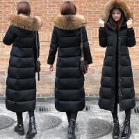羽绒女冬季新款韩版修身加厚棉袄中长款过膝黑色棉衣外套