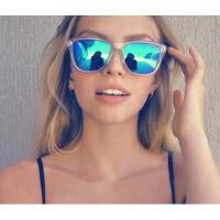 潮流眼镜防紫外线眼镜偏光时尚墨镜男女炫彩膜太阳镜 开车防UV