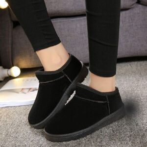 WARORWAR新品YM135-603-1冬季韩版磨砂绒平底舒适女士短靴雪地靴