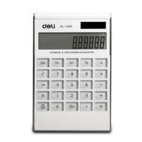 得力(deli)1256 计算器 12位数 办公生活用品 可爱创意 直板计算机