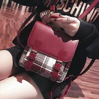 大包包女2018韩版格子女包斜挎单肩包手提包多功能双肩包旅行背包
