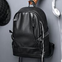 背包双肩包男皮包时尚潮流防泼水商务旅行包青年学生书包大容量