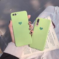 抹茶绿爱心9手机壳8青春/8指纹版软壳磨砂8se保护套 小米9 抹茶绿爱心