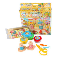 日本银鸟抖音理发师彩泥女孩剪挤头发玩具儿童无毒橡皮泥模具套装