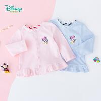 【2.25号秒杀价:48】迪士尼(Disney)童装女童甜美长袖外套秋季新款米妮印花前开扣上衣纯棉193S1237