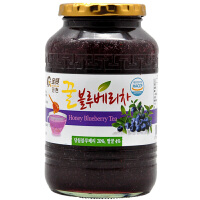 全贤 蜂蜜蓝莓茶1kg 韩国原装进口蓝莓酱冲饮蜜炼茶果肉饮料