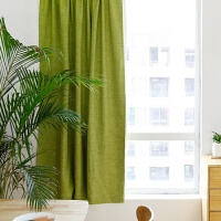 窗帘成品免打孔安装出租房卧室客厅棉麻遮光隔热防晒现代简易布帘