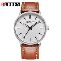 卡瑞恩8233皮带圆形石英手表 简约时尚皮带腕表 男士流行外贸