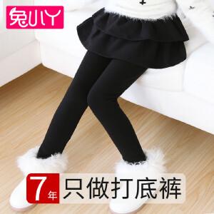 兔小丫   女童裙裤打底裤带裙假两件双层加绒加厚7-9岁儿童裤裙秋