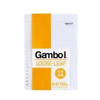 国誉(KOKUYO)Gambol系列LL1101N A5/100页 20孔活页纸 活页本芯(可配FR1031活页夹)当当自营