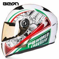 摩托车头盔夏季跑车机车男女士四季通用个性酷防雾全覆式全盔