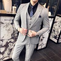 №【2019新款】冬天穿的西服套装男商务正装职业新郎伴郎结婚礼服修身小码西装三件套