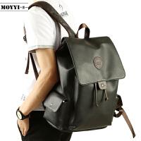 韩版潮包男士背包休闲双肩包时尚潮流中学生书包大容量旅行包