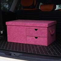 汽车收纳箱后备箱储物鞋盒多功能车内整理箱子后背尾箱车载置物用