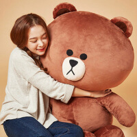 ?大熊毛绒玩具抖音布娃娃1.8米布朗熊公仔女3米抱抱熊猫玩偶送女友