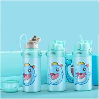 儿童保温杯带吸管幼儿园不锈钢宝宝水壶学生水杯子