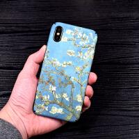 梵高文艺iPhonex手机壳6splus苹果8全包磨砂套星空7简约防摔男女
