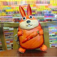 真皮零钱包女卡通零钱包民族风可爱复古休闲个性时尚兔子零钱包 兔子橘色
