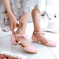 女童凉鞋 韩版包头公主鞋大童初中学生小女孩舞蹈鞋