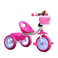 W �和�三���_踏�小孩�诬�2-3�q玩具�男女�����和�自行� 粉�t色 高配粉
