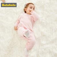 巴拉巴拉婴儿连体衣哈衣新生儿秋冬衣服宝宝睡衣包屁衣0-3个月女男