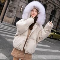 2018冬季新款轻薄羽绒服女装宽松韩版短款时尚真毛领小个子外套潮