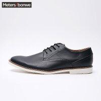 【2件2.5到手价:64】美特斯邦威男鞋时装鞋男春季男简洁系带时装鞋男商场同款