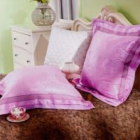 可定制欧式贡缎棉提花床头靠背沙发靠垫套抱枕套