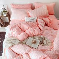 全棉保暖珊瑚绒纯棉四件套秋冬季法兰绒水晶绒床上三件套被套床单 四件套床单款 2.0米床(注:适合被子220*24