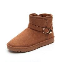 冬季新款雪地靴女韩版短筒短靴加绒加厚保暖棉鞋学生女靴子潮