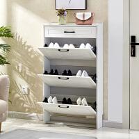 超薄翻斗17cm带抽屉窄鞋柜衣架一体家用门口大容量经济型宜家组装
