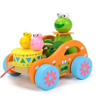 拖拉学步玩具拉车婴幼儿童手推车手拉绳拉线玩具车1-3岁宝宝玩具 抖音