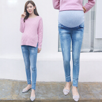 孕妇裤春季潮妈外穿打底长裤子托腹裤孕妇春装春秋牛仔裤