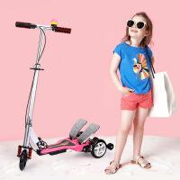 格灵童双踏车儿童滑板车折叠三轮5-6-14岁宝宝折叠童车脚踏滑板车