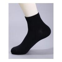袜子男士袜男人秋冬季节款吸汗运动商务男袜纯色中筒袜子 均码