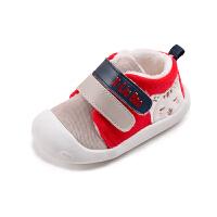 6-12个月婴儿软底鞋0-1岁男女宝宝学步鞋秋冬款厚棉鞋子