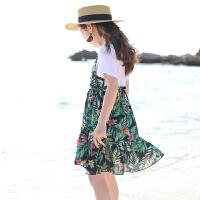 女童夏装10-12儿童连衣裙假两件童装中大童女孩夏天裙子